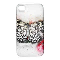 Butterfly Animal Insect Art Apple Iphone 4/4s Hardshell Case With Stand