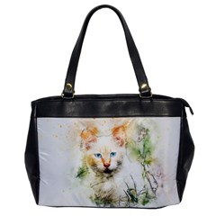 Cat Animal Art Abstract Watercolor Office Handbags by Celenk