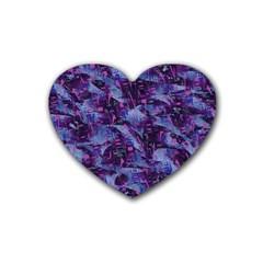 Techno Grunge Punk Rubber Coaster (heart)  by KirstenStar
