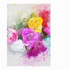 Flowers Bouquet Art Abstract Small Garden Flag (two Sides) by Celenk