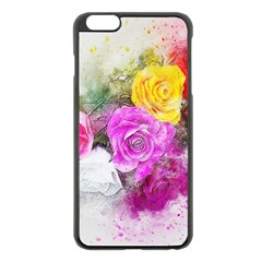 Flowers Bouquet Art Abstract Apple Iphone 6 Plus/6s Plus Black Enamel Case by Celenk