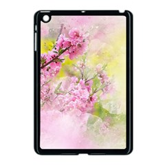 Flowers Pink Art Abstract Nature Apple Ipad Mini Case (black) by Celenk