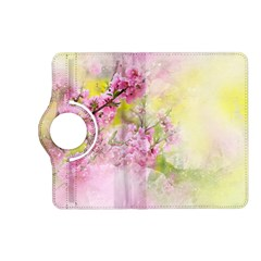 Flowers Pink Art Abstract Nature Kindle Fire Hd (2013) Flip 360 Case by Celenk