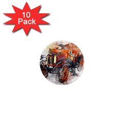 Car Old Car Art Abstract 1  Mini Magnet (10 Pack)  by Celenk