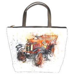 Car Old Car Art Abstract Bucket Bags by Celenk