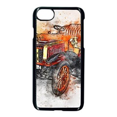 Car Old Car Art Abstract Apple Iphone 8 Seamless Case (black) by Celenk
