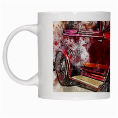 Car Old Car Art Abstract White Mugs by Celenk