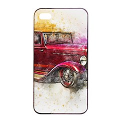 Car Old Car Art Abstract Apple Iphone 4/4s Seamless Case (black) by Celenk