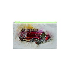 Car Old Car Art Abstract Cosmetic Bag (xs) by Celenk