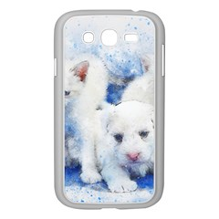 Dog Cats Pet Art Abstract Samsung Galaxy Grand Duos I9082 Case (white) by Celenk
