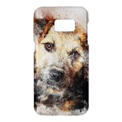 Dog Animal Pet Art Abstract Samsung Galaxy S7 Hardshell Case  by Celenk