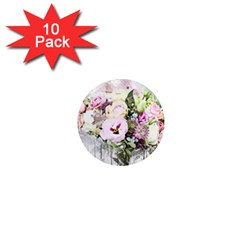 Flowers Bouquet Art Abstract 1  Mini Magnet (10 Pack)  by Celenk