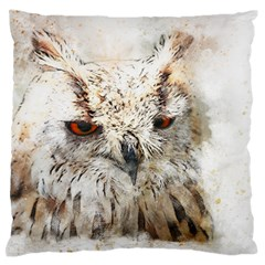 Bird Owl Animal Art Abstract Standard Flano Cushion Case (one Side) by Celenk