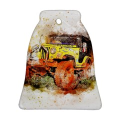 Car Old Car Fart Abstract Bell Ornament (two Sides) by Celenk