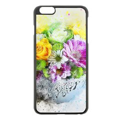 Flowers Vase Art Abstract Nature Apple Iphone 6 Plus/6s Plus Black Enamel Case by Celenk