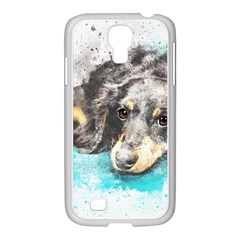 Dog Animal Art Abstract Watercolor Samsung Galaxy S4 I9500/ I9505 Case (white) by Celenk