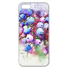 Berries Pink Blue Art Abstract Apple Seamless Iphone 5 Case (clear)