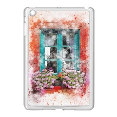 Window Flowers Nature Art Abstract Apple Ipad Mini Case (white) by Celenk