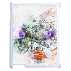 Flowers Bouquet Art Abstract Apple Ipad 2 Case (white) by Celenk