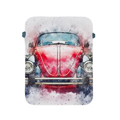 Red Car Old Car Art Abstract Apple Ipad 2/3/4 Protective Soft Cases by Celenk