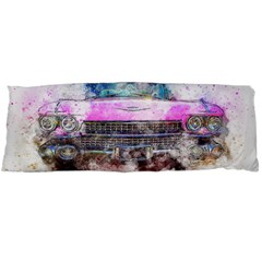 Pink Car Old Art Abstract Body Pillow Case Dakimakura (two Sides)