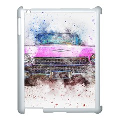 Pink Car Old Art Abstract Apple Ipad 3/4 Case (white) by Celenk