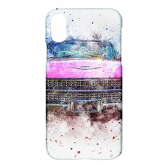 Pink Car Old Art Abstract Apple Iphone X Hardshell Case by Celenk