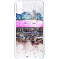 Pink Car Old Art Abstract Apple Iphone X Seamless Case (white) by Celenk