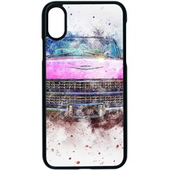 Pink Car Old Art Abstract Apple Iphone X Seamless Case (black) by Celenk