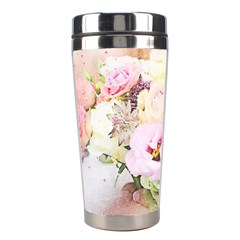 Flowers Bouquet Art Abstract Stainless Steel Travel Tumblers by Celenk