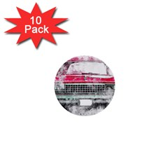 Car Old Car Art Abstract 1  Mini Buttons (10 Pack)  by Celenk
