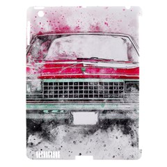Car Old Car Art Abstract Apple Ipad 3/4 Hardshell Case (compatible With Smart Cover) by Celenk