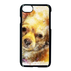 Dog Animal Art Abstract Watercolor Apple Iphone 8 Seamless Case (black) by Celenk