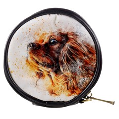 Dog Animal Pet Art Abstract Mini Makeup Bags by Celenk