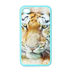 Tiger Animal Art Abstract Apple Iphone 4 Case (color)