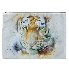 Tiger Animal Art Abstract Cosmetic Bag (xxl)  by Celenk
