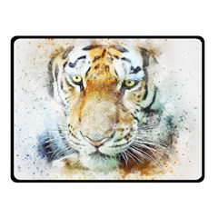 Tiger Animal Art Abstract Double Sided Fleece Blanket (small)  by Celenk