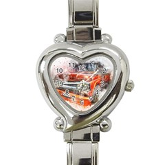 Car Old Car Art Abstract Heart Italian Charm Watch by Celenk