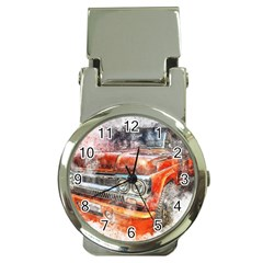 Car Old Car Art Abstract Money Clip Watches by Celenk