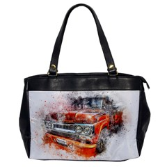 Car Old Car Art Abstract Office Handbags by Celenk