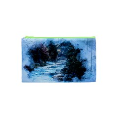 River Water Art Abstract Stones Cosmetic Bag (xs) by Celenk