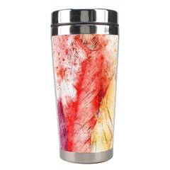 Feathers Bird Animal Art Abstract Stainless Steel Travel Tumblers by Celenk