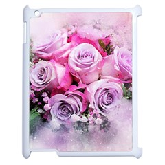 Flowers Roses Bouquet Art Abstract Apple Ipad 2 Case (white) by Celenk