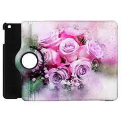 Flowers Roses Bouquet Art Abstract Apple Ipad Mini Flip 360 Case by Celenk