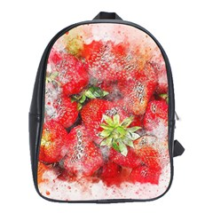 Strawberries Fruit Food Art School Bag (xl) by Celenk