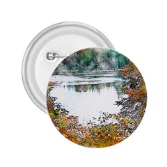 River Water Art Abstract Stones 2 25  Buttons by Celenk