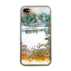 River Water Art Abstract Stones Apple Iphone 4 Case (clear)