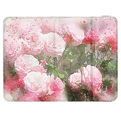 Flowers Roses Art Abstract Nature Samsung Galaxy Tab 7  P1000 Flip Case by Celenk