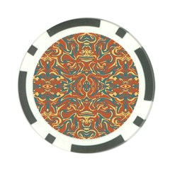 Multicolored Abstract Ornate Pattern Poker Chip Card Guard by dflcprints