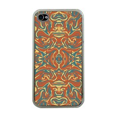 Multicolored Abstract Ornate Pattern Apple Iphone 4 Case (clear) by dflcprints